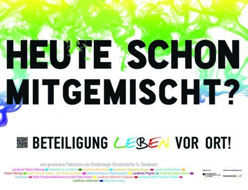 Partnerschaften für Demokratie in Brandenburg starten gemeinsame Kampagne